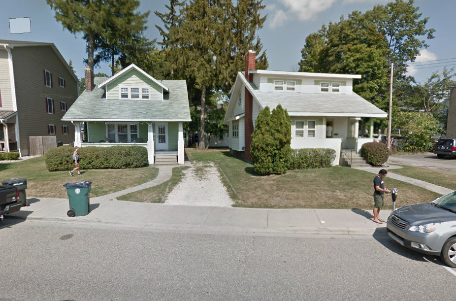 Albert Townhomes 2 - would replace these two houses