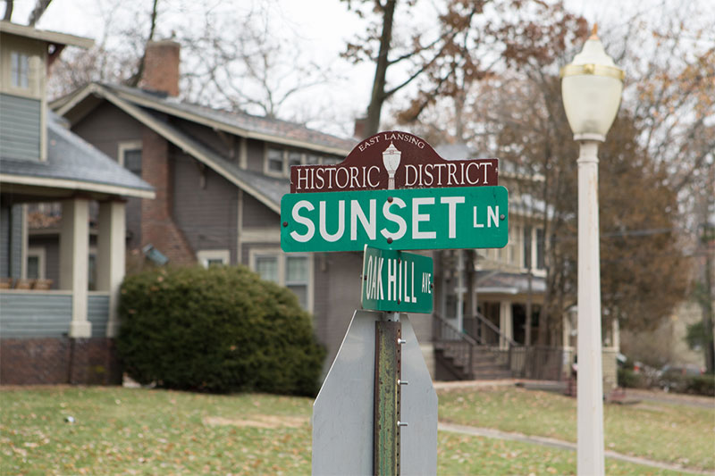 Historic District - Sunset Ln - Copyright Raymond Holt