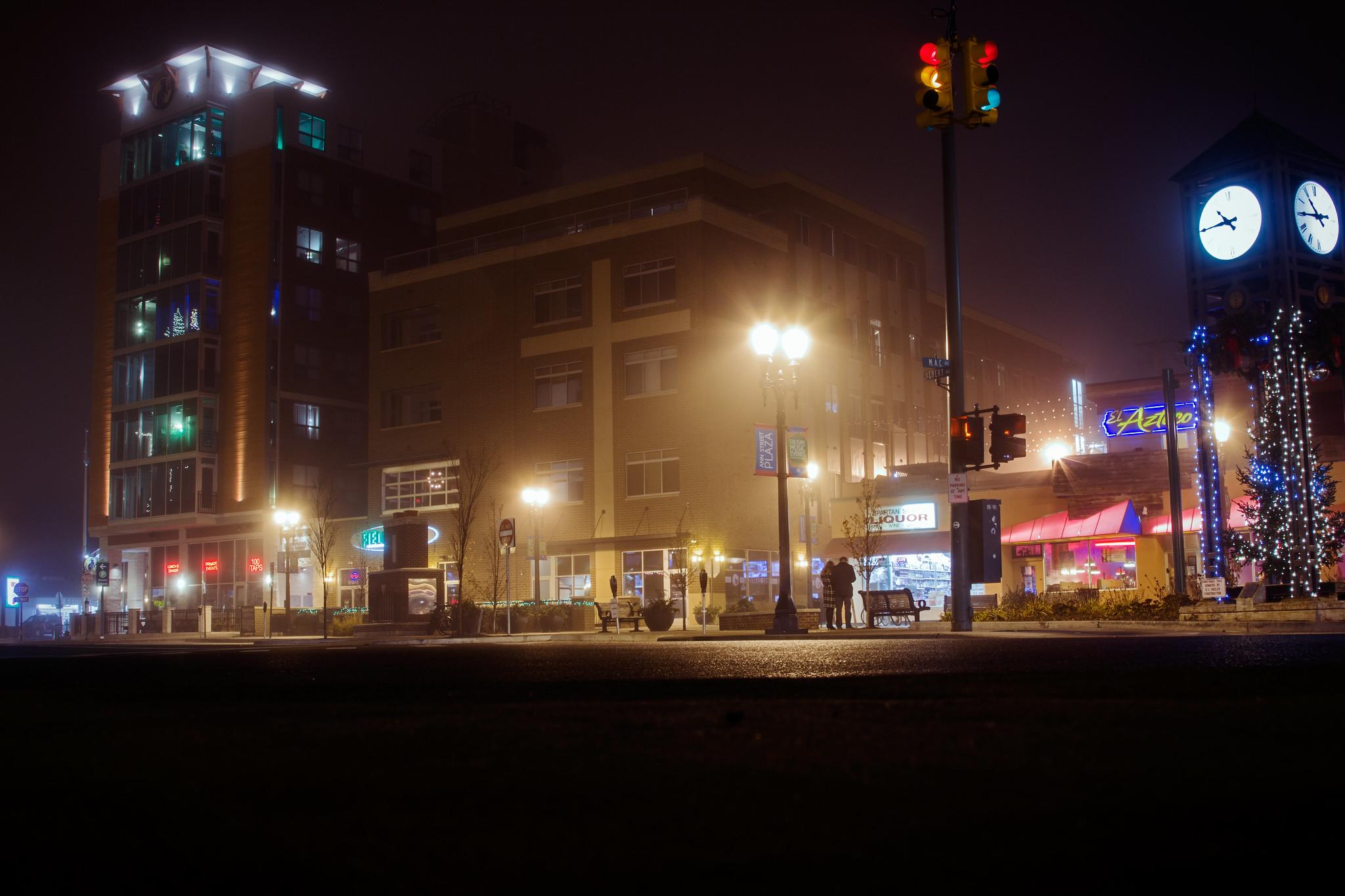 Downtown East Lansing at Night